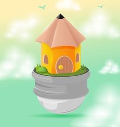 House Pencil Design Symbol Icon vector image vector image