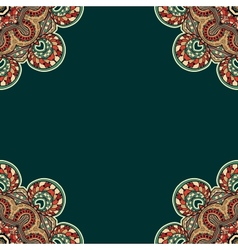 Ornate floral texture with ornaments and curls vector image