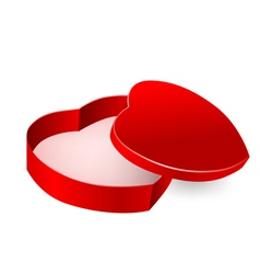 red box in heart form vector image vector image