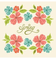 spring symmetry vector image vector image