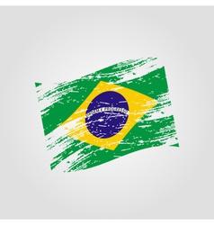 color brazil national flag grunge style eps10 vector image vector image