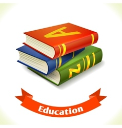 Education icon textbook vector image
