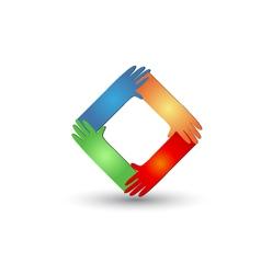 Hands helping logo vector image vector image