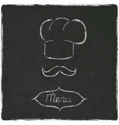 menu on old black board vector image