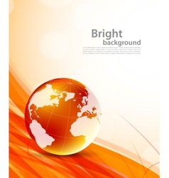 Background with orange globes vector image vector image