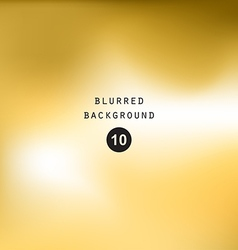 Blurred abstract gradient background gold yellow vector image