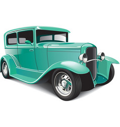classical hot rod vector image vector image