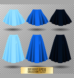 different model skirt on vector image vector image