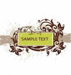 floral grunge banner vector image vector image