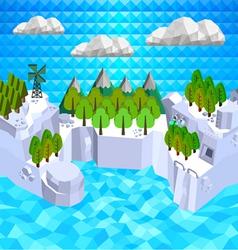 Low poly islands vector image vector image