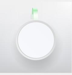 plastic advertising wobbler white empty vector image