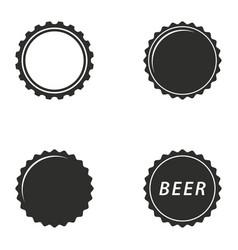 bottle cap icon set vector image vector image