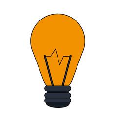 color image cartoon halogen light bulb vector image vector image