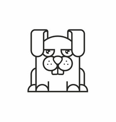 Cute hare icon on white background vector