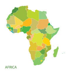 map of africa continent vector image