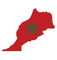 Morocco Flag vector image vector image