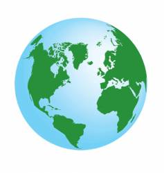 Planet earth map vector
