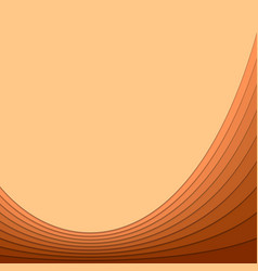 Abstract brown background from curved stripes vector