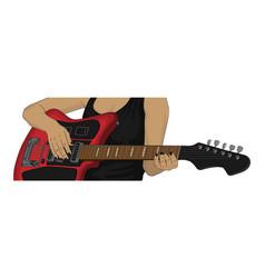 an electric guitar vector image