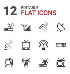 Antenna icons vector