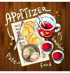 Appetizer and aperitive vector image