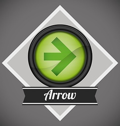 Arrow design vector image
