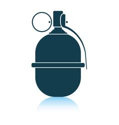 Attack grenade icon vector