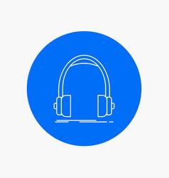 audio headphone headphones monitor studio white vector image