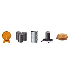 barrel icon set cartoon style vector image