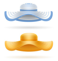 Beach hat for women stock vector