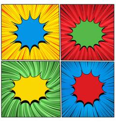 bright comic elegant backgrounds vector image