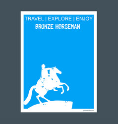 bronze horseman st petersburg russia monument vector image