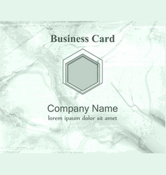 Business card background marble textured details vector