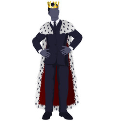 business man king vector image