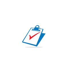 check mark data paper logo vector image