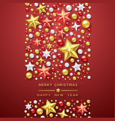christmas background with shining stars vector image