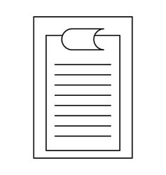 Clipboard with sheet of paper icon outline style vector image