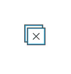 close icon design essential icon vector image