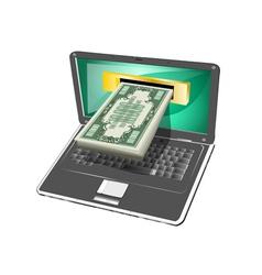 computer money vector image