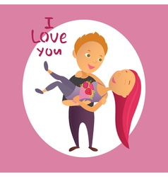 Couple in love 34 vector image