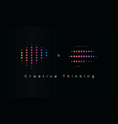 creative thinking logo dotted machine learning vector image