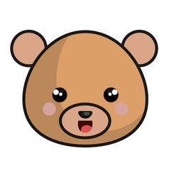 cute and tender bear kawaii style vector image