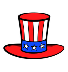 cylinder in usa flag colors icon cartoon vector image
