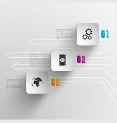 Digital infographic concept vector