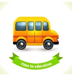 Education icon school bus vector image