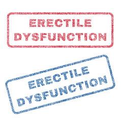 erectile dysfunction textile stamps vector image