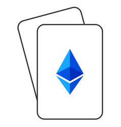 Ethereum lite playing cards vector