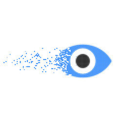 Eye disappearing pixel icon vector