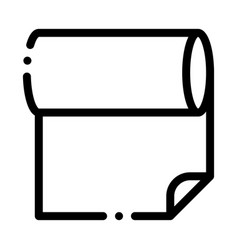 fabric roll icon outline vector image
