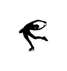 figure skating individual silhouettes vector image